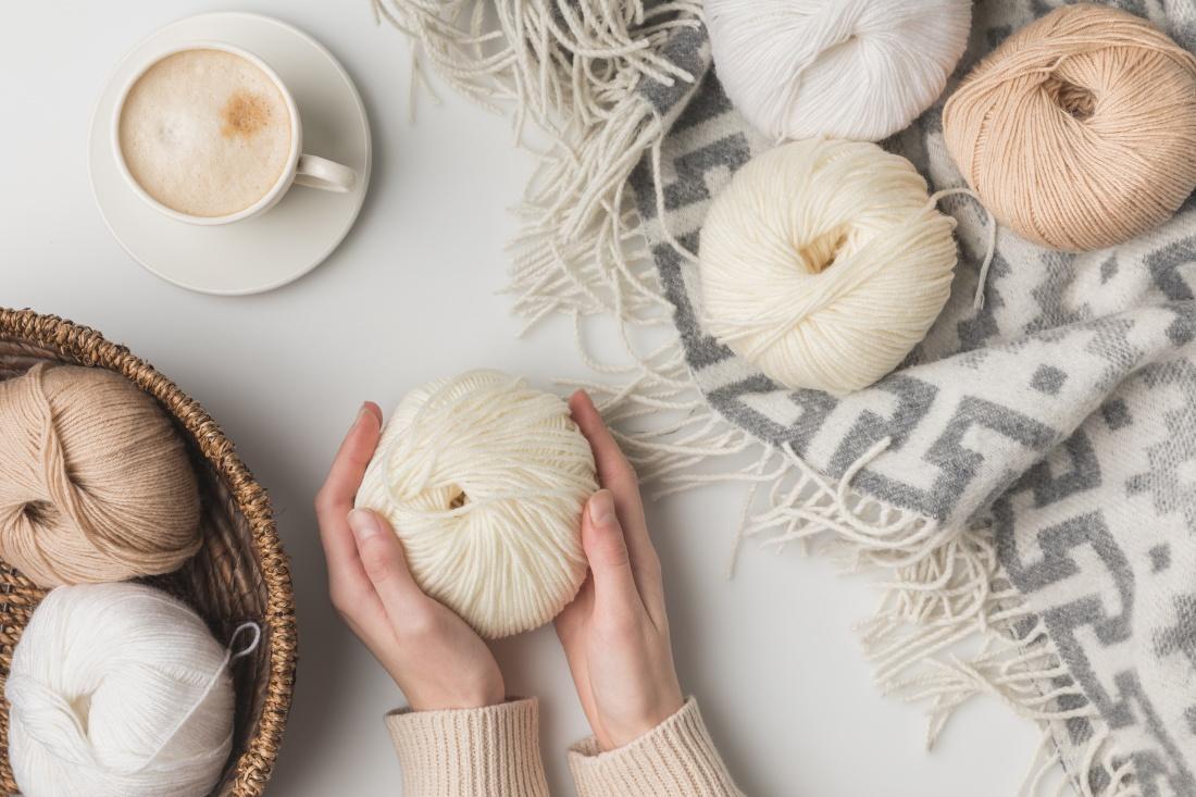 Yarn, coffee, and wool