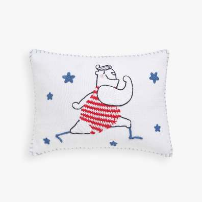 KIDS CROCHET ATHLETE CUSHION COVER